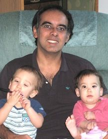Andres Castano, with Danny and Bella in 2012
